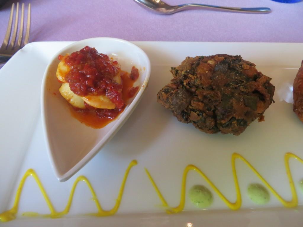 viera asada y delicias de espinacas