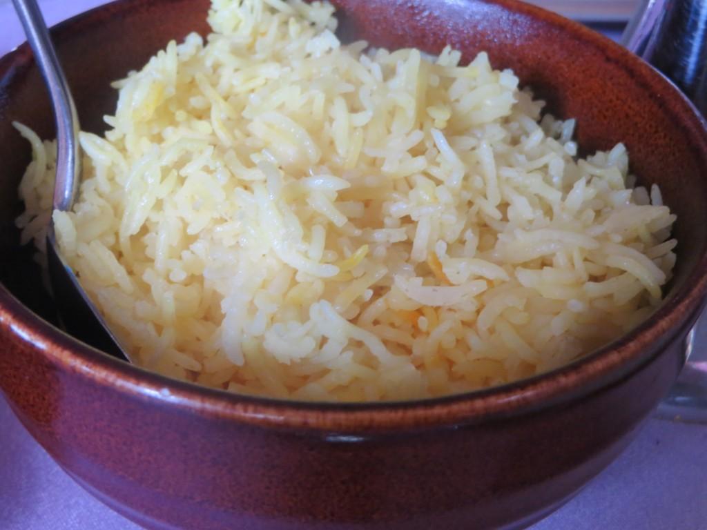 arroz basmati con azafrán