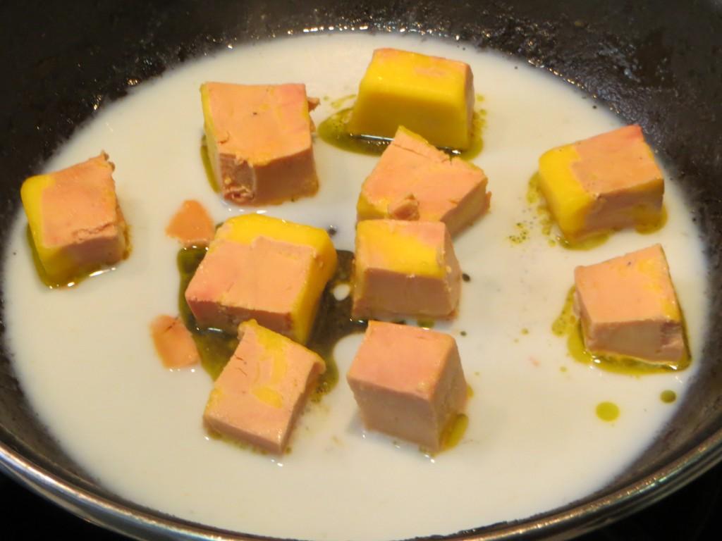 tacos de foie mi cuit a punto de derretir