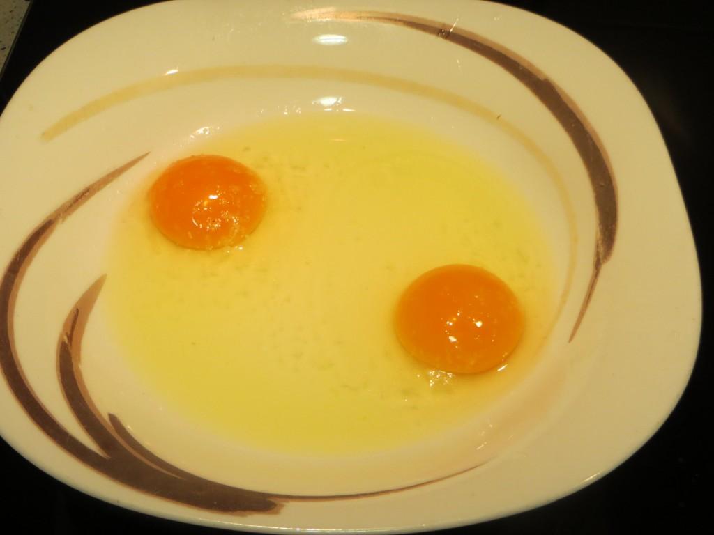 huevos a punto para ser batidos