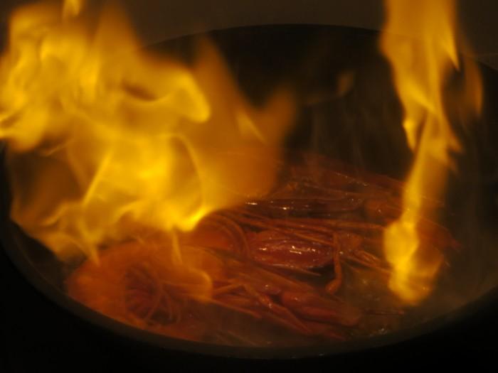 carabineros flambeados