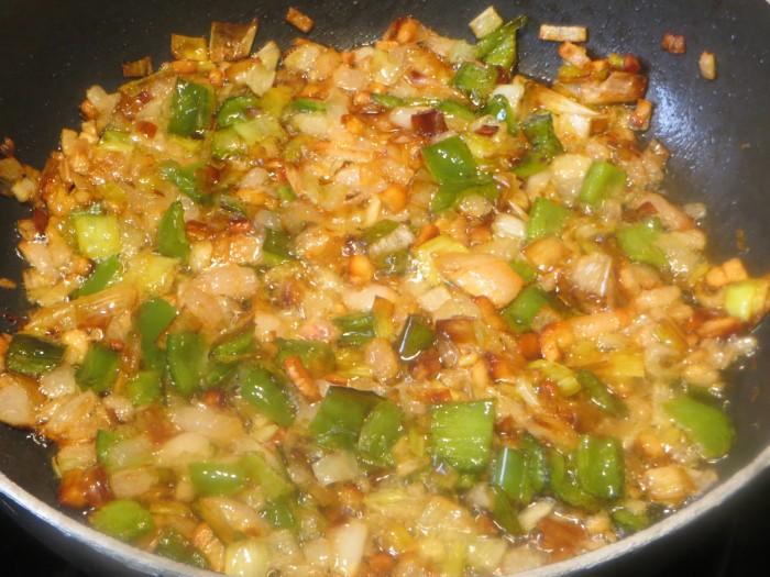 verduras acabadas de dorar
